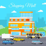 Shopping Mall Urban Composition Royalty Free Stock Images