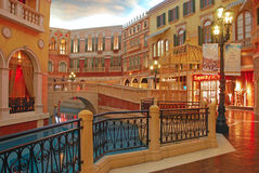 Shopping Mall in The Venetian Macao Royalty Free Stock Photography