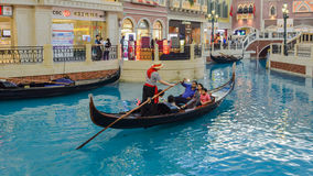 Shopping Mall in The Venetian Macao. Casino along the Canal Stock Image