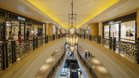 Shopping Mall in The Venetian Macao. Casino along the Canal Royalty Free Stock Photo
