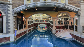 Shopping Mall in The Venetian Macao Stock Photo
