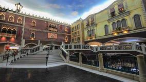 Shopping Mall in The Venetian Macao. Casino along the Canal Stock Photos