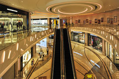 Shopping Mall in The Venetian Macao. Casino along the Canal Stock Images