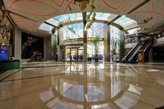Shopping Mall in The Venetian Macao. Casino along the Canal Royalty Free Stock Photography