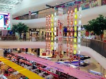 Shopping mall view. The image of the Chinese style in shopping mall at Thailand Royalty Free Stock Images