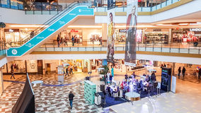 Shopping mall in Vilnius makeup event Royalty Free Stock Image