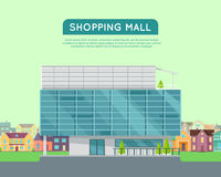 Shopping Mall Web Template in Flat Design. Royalty Free Stock Image