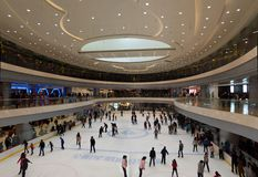Shopping mall in Wuhan Stock Images