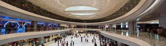 Shopping mall in Wuhan Royalty Free Stock Photo