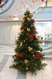 Shopping mall xmas tree Royalty Free Stock Images