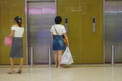Shopping malls elevator Stock Images