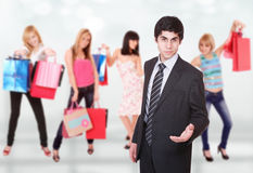 Shopping man Stock Image