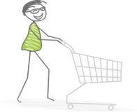 Shopping. A man do shopping at the supermarket Royalty Free Stock Photo