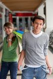 Shopping man with empty pockets Stock Image