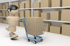 Shopping, man in a store Royalty Free Stock Photos