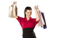 Shopping Mania Stock Photo