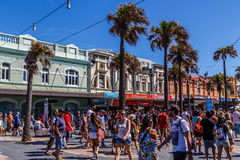 Shopping in Manly's Corso Stock Images