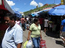 Shopping at the Market Stock Photo