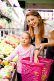 Shopping in market stock photography