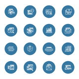 Shopping and Marketing Icons Set. Royalty Free Stock Photos