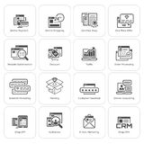 Shopping and Marketing Icons Set. Stock Images