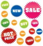 Shopping marks Stock Image