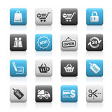 Shopping // Matte Icons Series Royalty Free Stock Photography