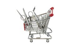 Shopping for medical tools Royalty Free Stock Photography