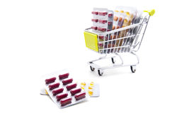 Shopping medicine Stock Photography