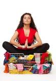 Shopping meditation Royalty Free Stock Photography