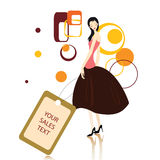 Shopping message with women Royalty Free Stock Images
