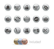Shopping // Metal Button Series Stock Images
