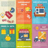 Shopping mini posters set Royalty Free Stock Photography