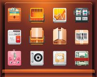 Shopping and money. Mobile devices apps/services icons. Part 11 of 12 royalty free illustration