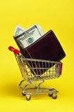 Shopping Money. Are you spending all you money at the store Stock Photos