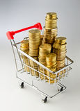 Shopping money Royalty Free Stock Photography