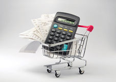 Shopping money Royalty Free Stock Photos