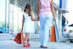 Shopping with mother Royalty Free Stock Photography