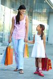 Shopping with mother Royalty Free Stock Photo