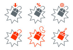 Shopping mouse icons Royalty Free Stock Image