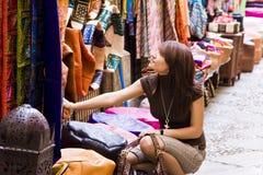 Shopping muslim goods Stock Photos