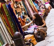 Shopping muslim goods Stock Image