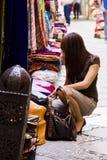 Shopping muslim goods Stock Photography