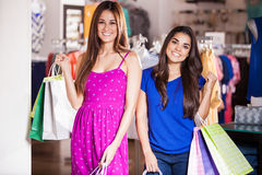 Shopping with my friend Stock Photography