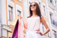 Shopping is my life! Royalty Free Stock Photography