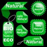 Shopping natural green tags labels set Royalty Free Stock Image