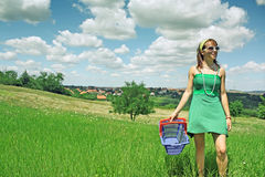 Shopping in Nature Stock Photography