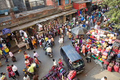 Shopping near the New Market, Kolkata, India Royalty Free Stock Photography