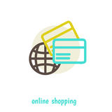 Shopping on net concept illustration design over Royalty Free Stock Image