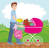 Shopping for newborn Stock Images